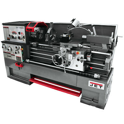 JET GH-1640ZX Large Spindle Bore Lathe w/ DP700 Taper Attachment & Collet Closer