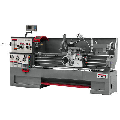 JET GH-1880ZX Large Spindle Bore Lathe With Newall DP700 DRO & Taper Attachment