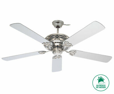 Grenada 132cm Fan in Brushed Chrome with Silver Blades