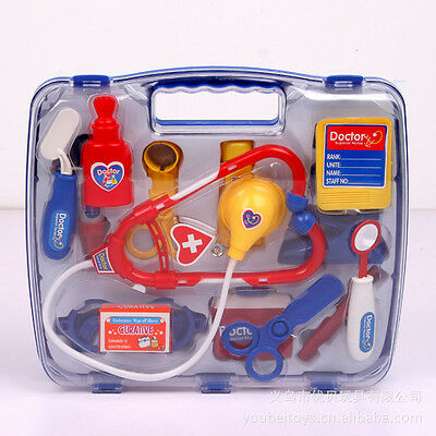 Kid Baby Doctor Nurse Medical Carry Case Box Role Pretend Play Educational Kit