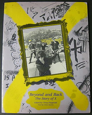 Beyond and Back The Story Of X 1984 AUTOGRAPHED Book PUNK Exene JOHN Doe + Flyer