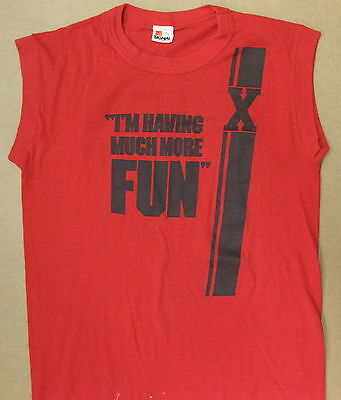 X More Fun In The New World 1983 US Promo PUNK T-Shirt Sleeveless LARGE Minty