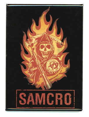 Sons Of Anarchy Samcro Flames Magnet