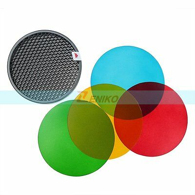 Godox Color Filter Honeycomb Grid Cover Kit for WITSTR AD180 AD360 Flash Light