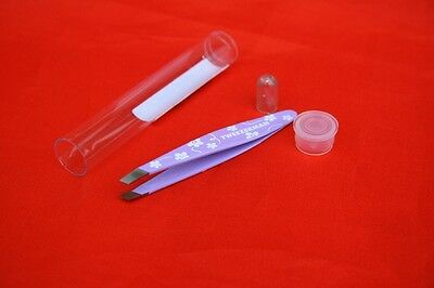 Tweezerman Mini Tweezer Pinzette flieder (Blümchen)