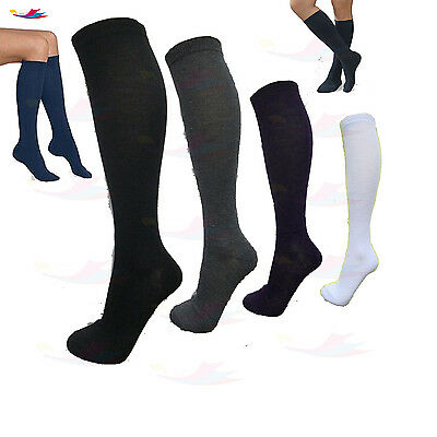 Girls Knee High Kids Knee Socks Long Casual Thigh High Plain Cotton Socks