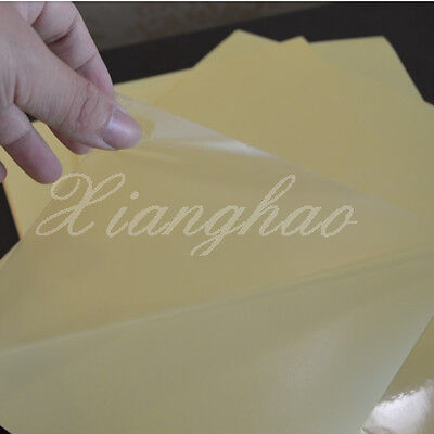 45 SHEETS A4 PET Transparent Film Sheet Self Adhesive Sticker Paper Laser Jet