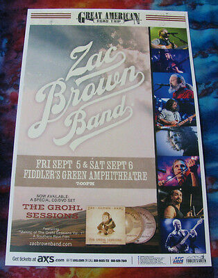 ZAC BROWN BAND Great American Road Trip Fiddlers  Colorado - Show Flyer / Poster