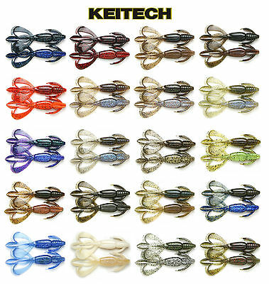 "KEITECH CRAZY FLAPPER 4.4"" 6 PACK select colors"