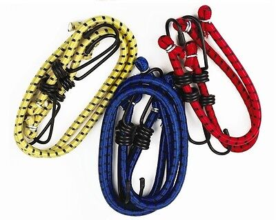 Bungee Straps 6 Cords Set Hooks Elasticated Rope Cord Car Bike Luggage Straps