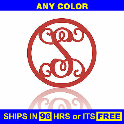 "30"" Painted Circle Monogram Wooden Letter Baby Nursery Wedding Initial Wall Door"