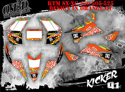 Scrub Dekor Kit Atv Ktm Sx Xc 450 / 505 / 525 Graphic Kit Kicker B