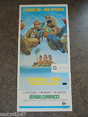 WHO FINDS A FRIEND FINDS A TREASURE ORIGINAL DAYBILL POSTER 1981 Hill Spencer