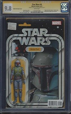 Star Wars #4 Boba Fett Toy Card Variant__CGC 9.8 SS__Signed by cover artist