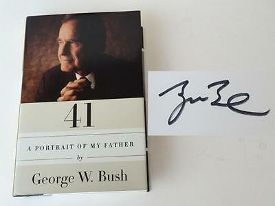 "GEORGE BUSH Signed ""A Portrait of My Father Book"" JSA M42442"