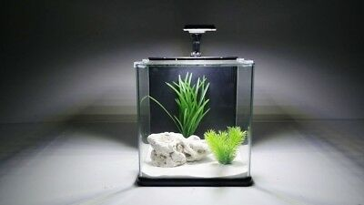 Aqua Orion 25 en noir Mini-Aquarium Nano Complet +LED & CLAIR DE LUNE