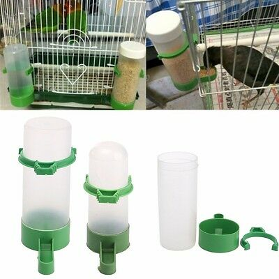 1/2pcs 65/150ml Bird Drinker Feeder Waterer With Clip For for Parrot Budgie