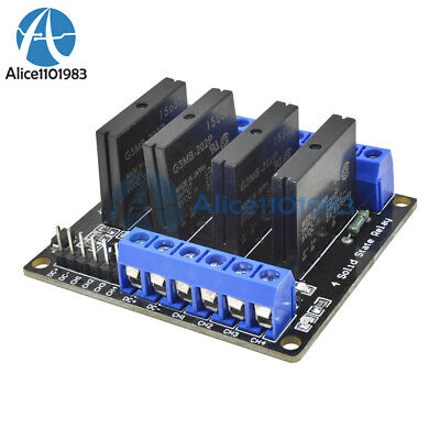5V 4 Channel OMRON SSR G3MB-202P Solid State Relay Module with Resistive Fuse