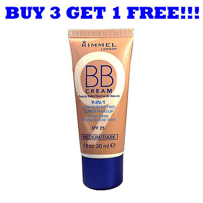 Rimmel BB Cream 9In1 Skin Perfecting 30ml (Full Size) Medium / Dark
