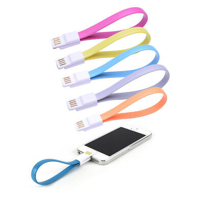 Magnetic Short USB Cable For iPhone 7 6S 8 Plus X 5S iPad Mini iPod Charger Lead