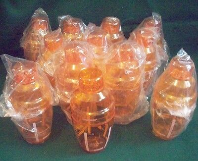 Set of 12 Cointreau 9 Ounce Cocktail Shakers - New! Three Piece Orange Plastic