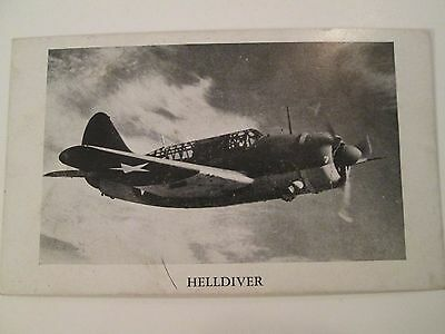 VINTAGE 3 X 5 CARD OF THE HELLDIVER AIRCRAFT