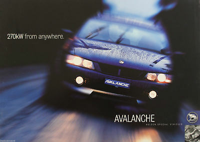 HSV Avalanche Brochure 2004 Holden Special Vehicles Memorabilia Man Cave