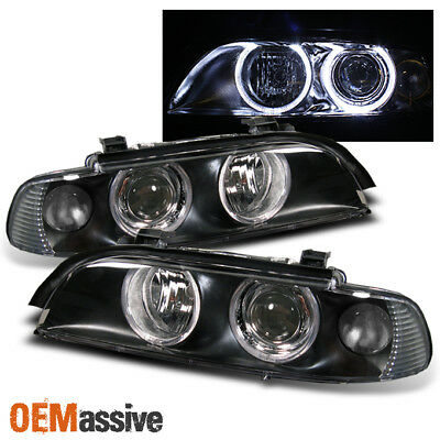 1997-2003 E39 5-Series Halo Projector Headlights Left+Right 1998 1999 2000 2001