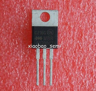 10pcs MBR20200 MBR20200CT Power Rectifier TO-220 ON