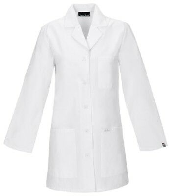 Scrubs Cherokee Womens Antimicrobial Lab Coat 1462A WHTD White  FREE SHIPPING