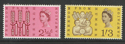 SG634p / 635p Freedom From Hunger Phosphor Set Unmounted Mint Cat £30