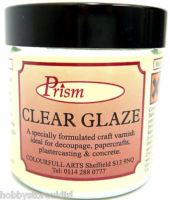 Prism Clear Glaze Varnish Craft Decoupage Varnish Gloss Non Yellowing 60ml New