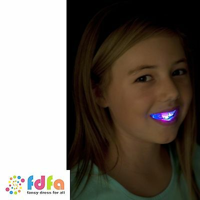 FLASHING MOUTH PIECE - with 4 coloured LEDs - kids light up toys gifts
