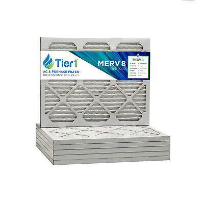 20x23x1 Dust and Pollen Merv 8 Replacement AC Furnace Air Filter (6 Pack)
