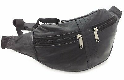 Real Leather Bum Bag Travel Holiday Money Belt Pouch Bumbag Festival