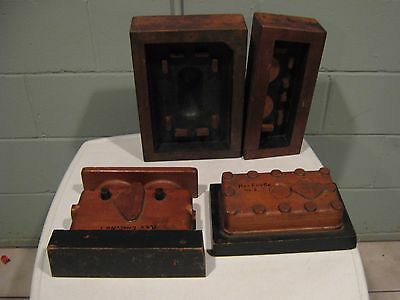 Rex Acme Motorcycle Engine Molds Rex Engine Co. Wood Molds Early 1900s MotorBike