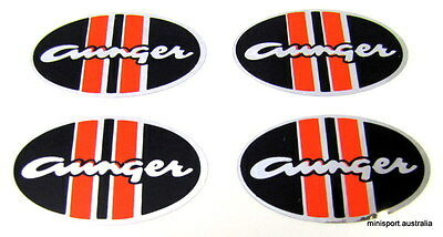 Aunger mag wheel centre cap sticker *set of 4* 48x28mm