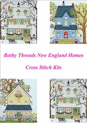 Bothy Threads New England Homes Cross Stitch Kit Spring Summer Fall Winter