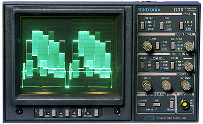 Tektronix 1735 Analog Waveform Monitor PAL/NTSC Dual Standard Monitoring