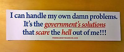 Conservative Bumper Sticker on Capitalism, Liberty