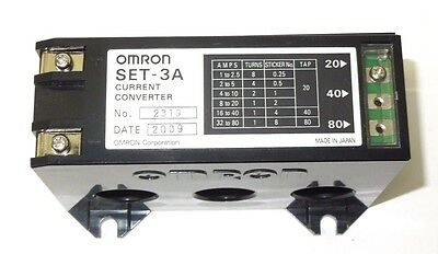 Omron Set-3A Current Converter 1-80 Amp Nib <176P3