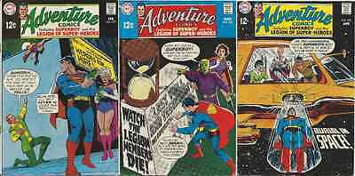 Adventure Comics 377 378 & 379 Ff+ Superman 1938 Series Rare Dc