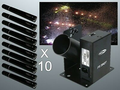 Showtec FX Shot Confetti Cannon Shooter Package inc Cartridges Special Effect