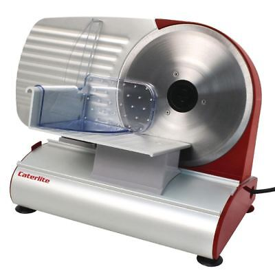 Caterlite Light Duty Meat Slicer Red Stainless Steel Food Cutter Electric Blade