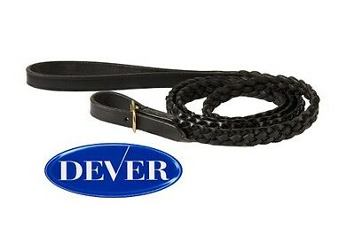 Dever English Leather Plaited Lead Rein-In hand Showing-Parading Horses