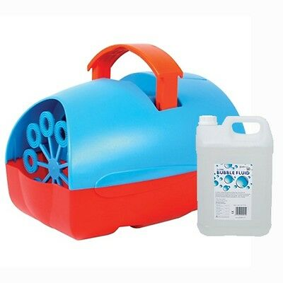 Mini Party DJ Disco Portable Bubble Machine Red & Blue with 5 Litre Bubble Fluid