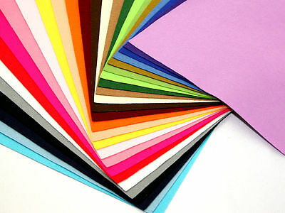 25 Pieces of A4 Craft Felt Fabric Pack - 25 Assorted Colours