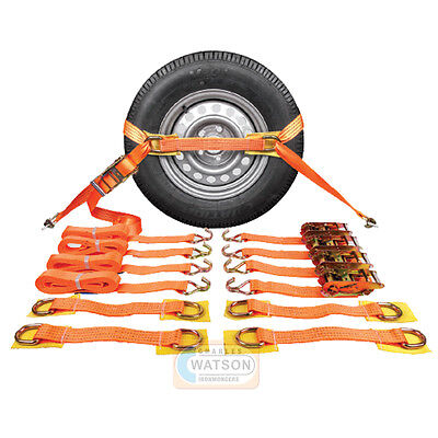 RECOVERY RATCHET STRAPS Alloy Wheel Safety Trailer Break Down