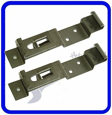 Trailer Number Plate Clips / Holder Spring Loaded Stainless Steel - ONE PAIR