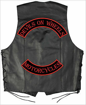 "CUSTOM ROCKER SET - Motorcycle Patch Set: Top  + Bot  16"" + 13"" LARGE XXL"